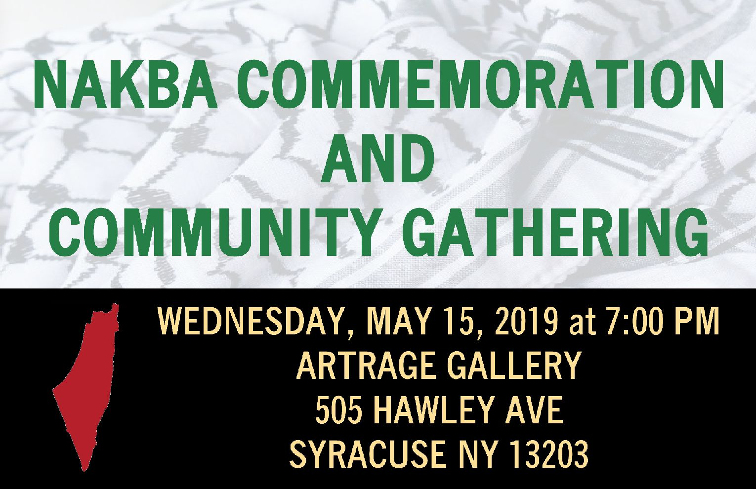 Nakba commemoration event graphic