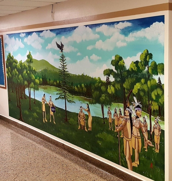Great Law of Peace Mural in LeMoyne Elementary School