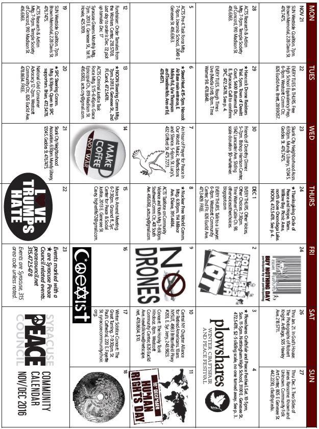 Syracuse Calendar.Blog Posts By Contributor Carolbaum Syracuse Peace Council