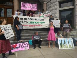 Mayoral visit to Israel protest